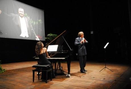 Con il flautista Andrea Griminelli