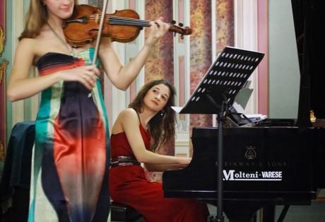 Con la violinista Francesca Dego