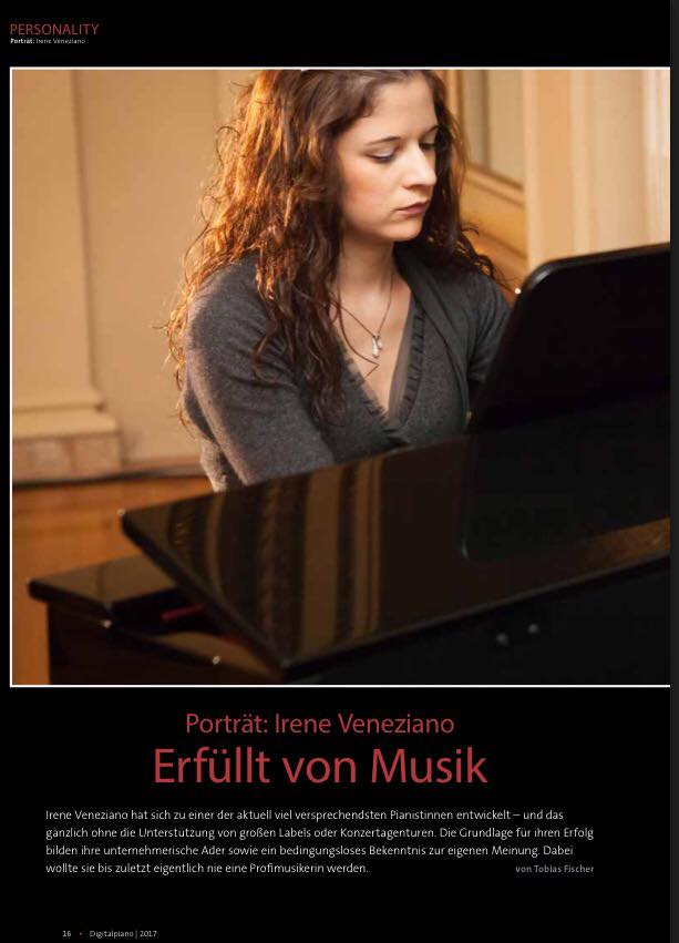 """Interview for the German magazine """"Digital Piano"""" (december"""